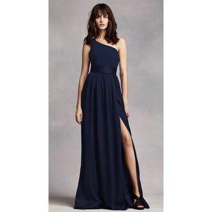 Vera Wang Bridesmaid dress. Long + navy dress.